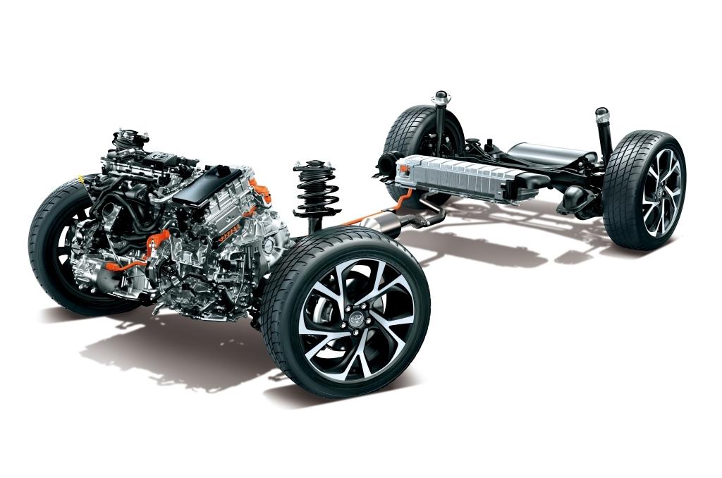 トヨタ C-HR ハイブリッドのパワートレイン画像