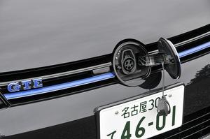 フォルクスワーゲン ゴルフ GTEの充電ソケットの写真