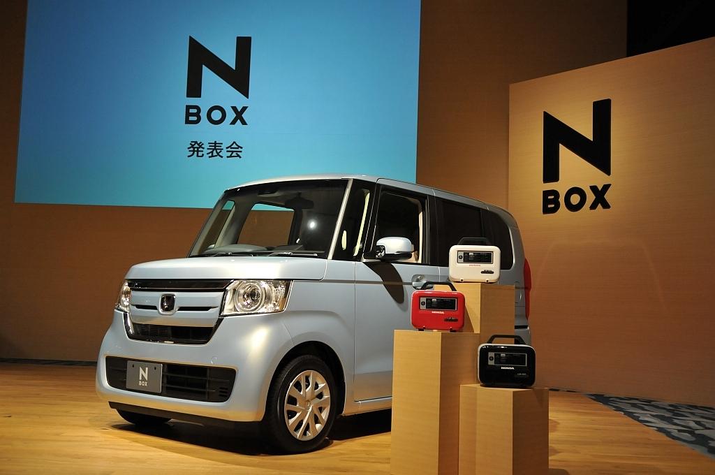 ホンダ N-BOXとリベイドE500の画像