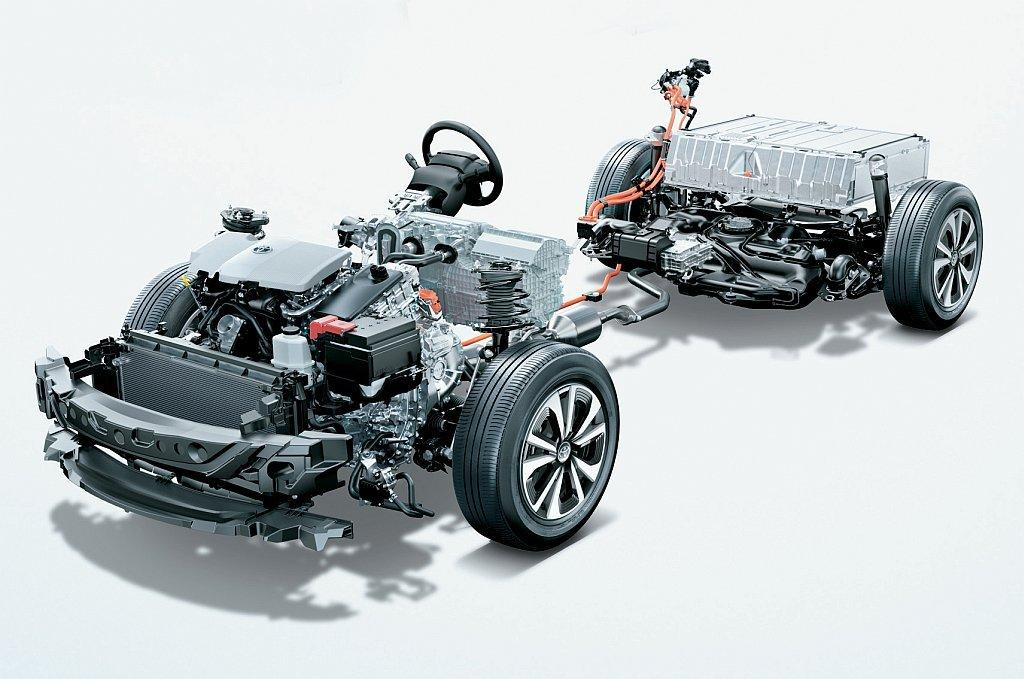 トヨタ プリウスPHVのパワートレイン画像