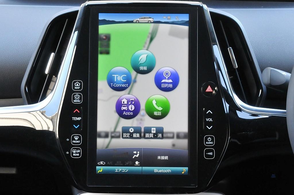 トヨタ プリウスPHVのT-Connectナビの画像