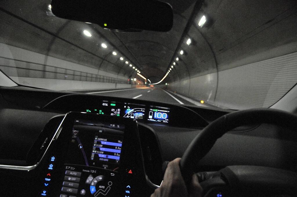 トヨタ プリウスPHVのメーター画像