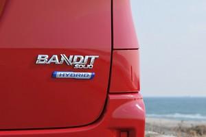 BANDITの車体ロゴのクローズアップ写真