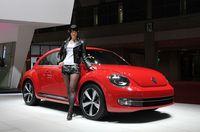 東京モーターショー2011で発表された新型ザ・ビートルの写真