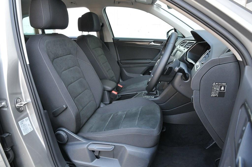VW ティグアン、フロントシートの画像